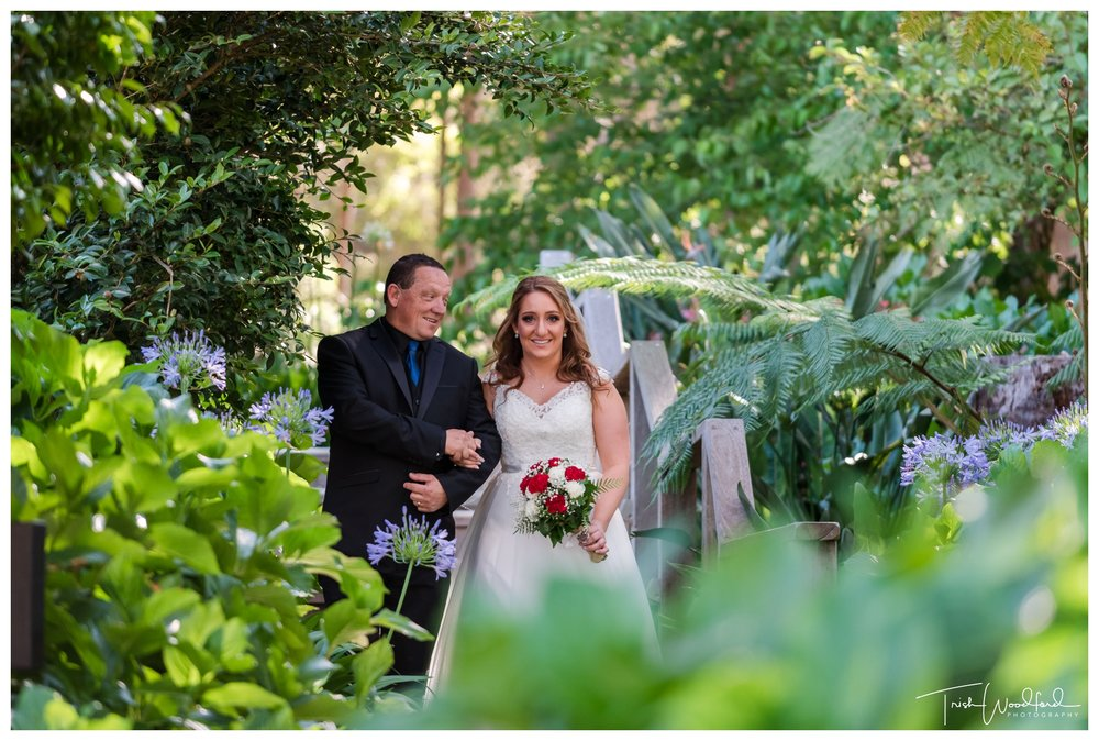 Bride & Dad Aravina Estate Wedding Ceremony