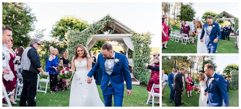 Petal Throwing Aravina Estate Wedding