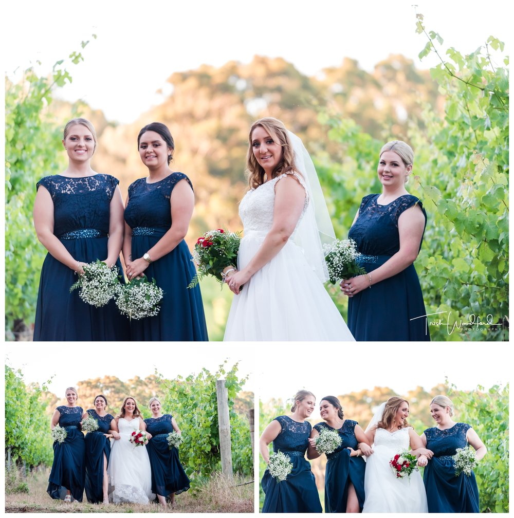Bride and Bridesmaid Aravina Estate Wedding