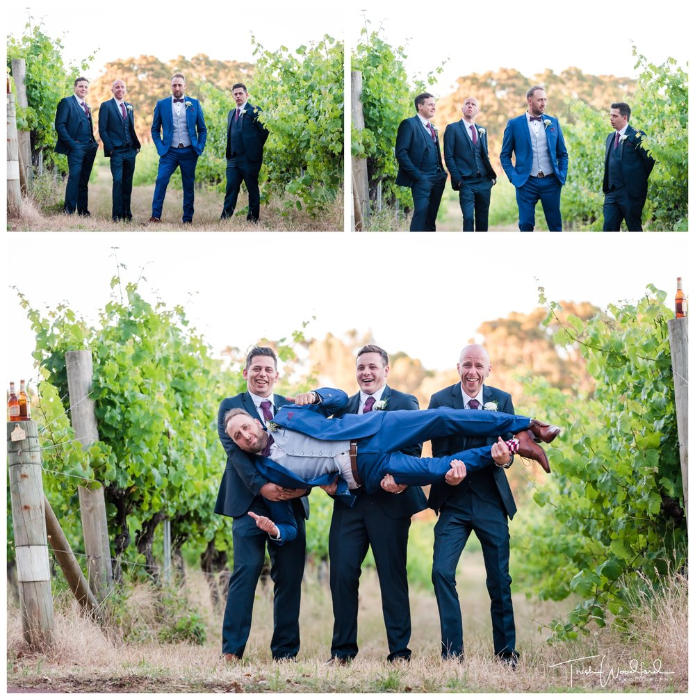 Groom and Groomsmen Aravina Estate Wedding