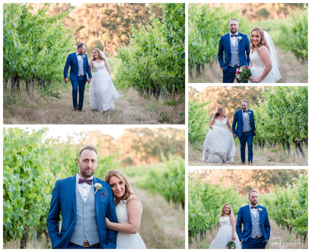 Bride and Groom Aravina Estate Vineyard Wedding