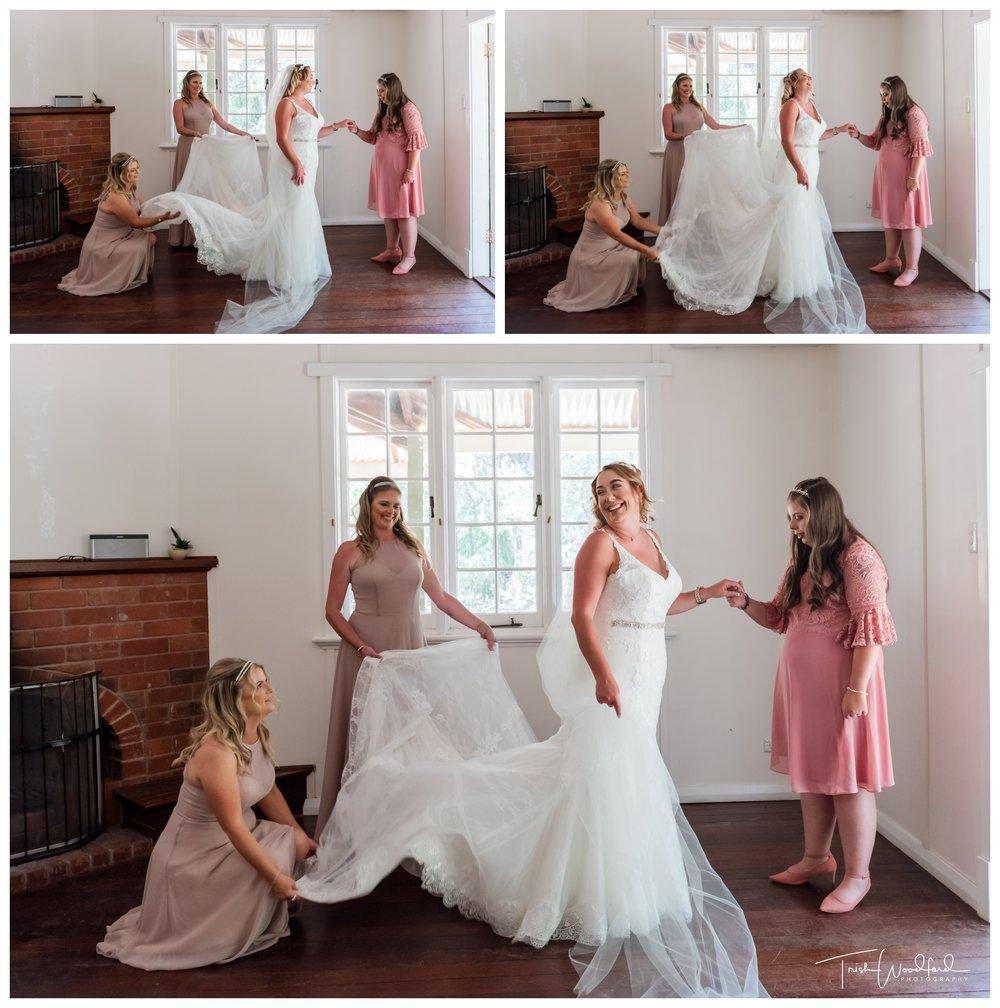 Bride and Bridesmaids Fairbridge Village