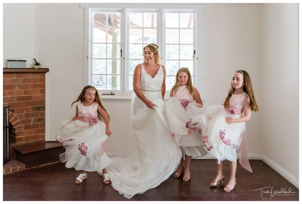 Bride and Flowergirls Fairbridge Village