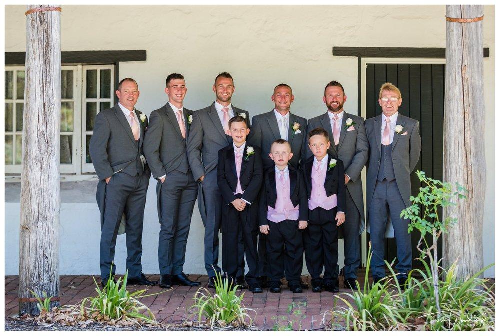 Groom and Groomsmen Fairbridge Wedding