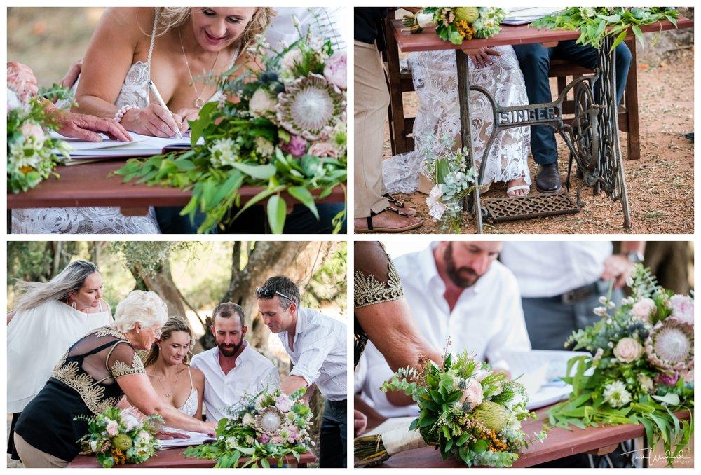 Aussie Bush Wedding Ceremony