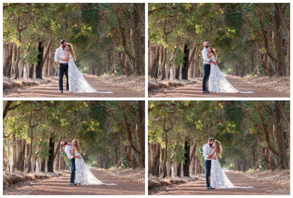 Bride and Groom Rustic Farm Wedding