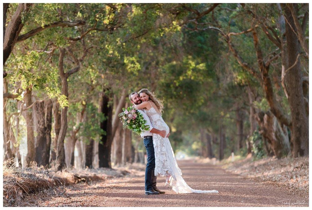 Bride and Groom Portrait Farm Wedding