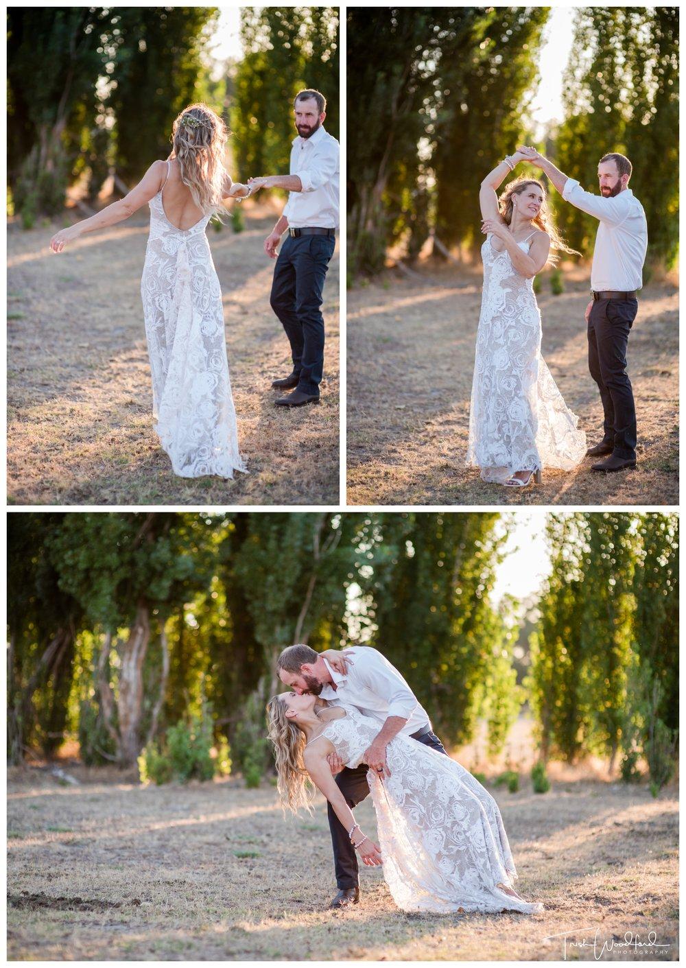 Bride and Groom Country Farm Wedding