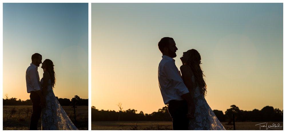 Wedding Sunset Portraits