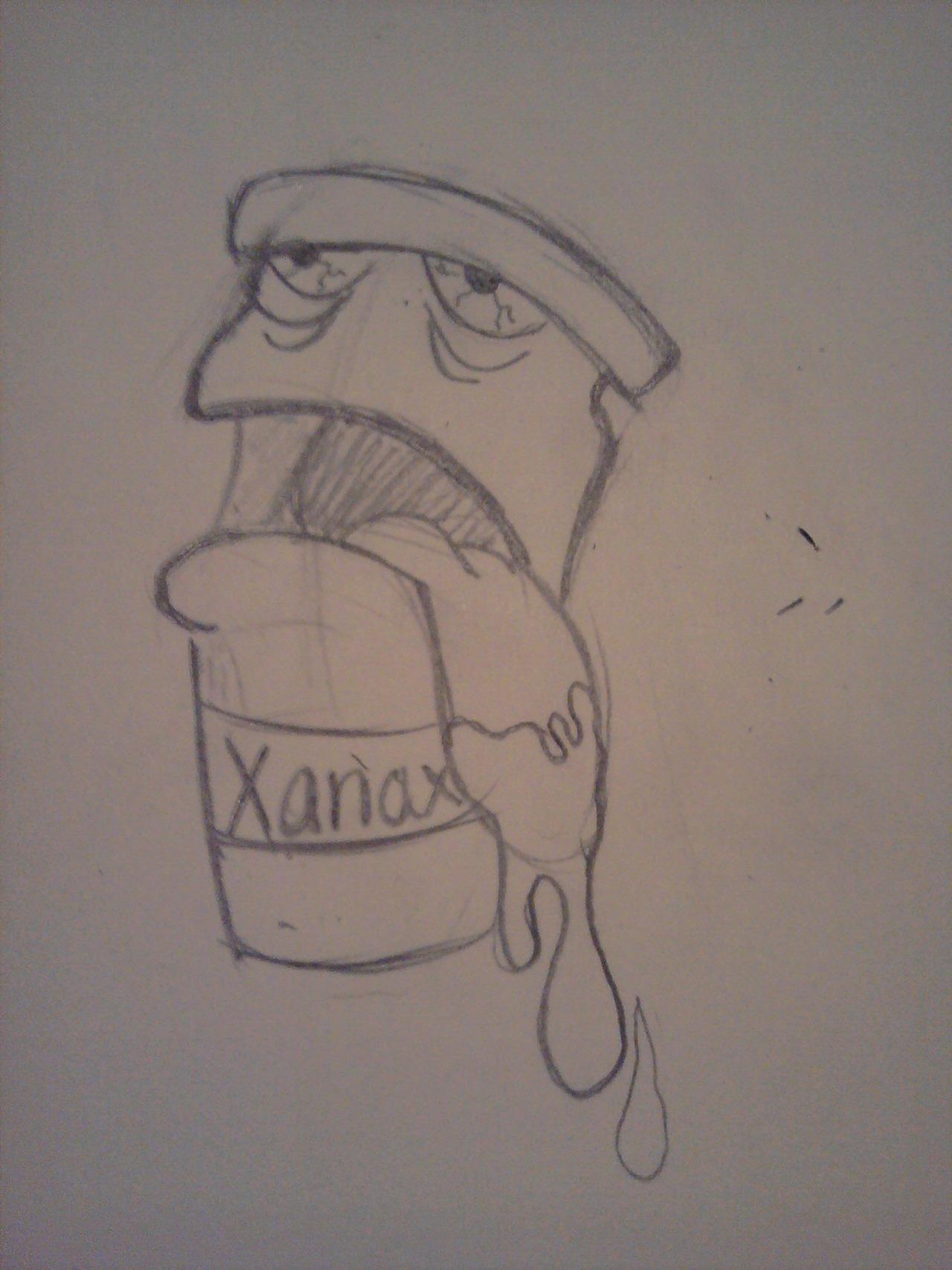 xanax spelled backwards