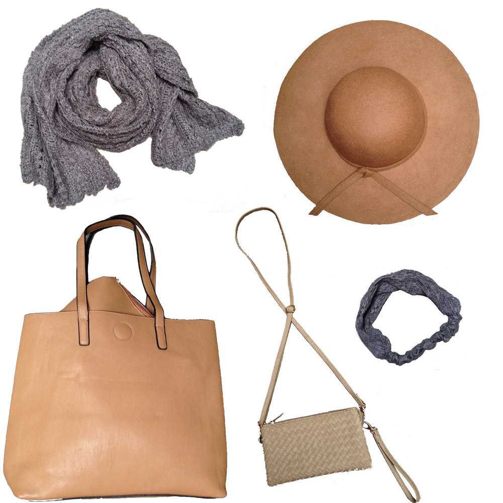 ...And top it all off with taupe accessories