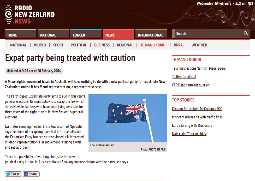 http://www.radionz.co.nz/news/te-manu-korihi/236491/expat-party-being-treated-with-caution