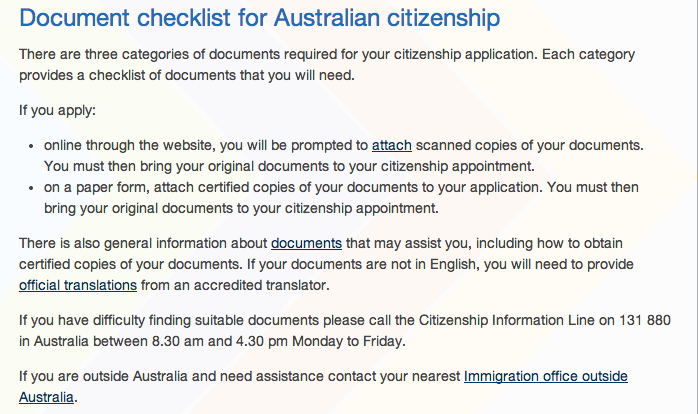 Apply for australian citizenship iwi n aus for Documents for apply citizenship