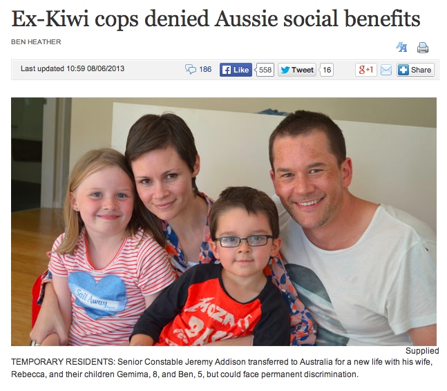 http://www.stuff.co.nz/national/8772611/Ex-Kiwi-cops-denied-Aussie-social-benefits
