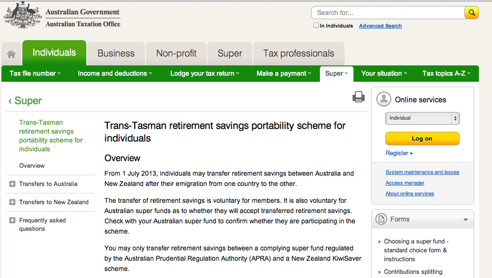 http://www.ato.gov.au/Individuals/Super/In-detail/Transferring/Trans-Tasman-retirement-savings-portability-scheme-for-individuals/