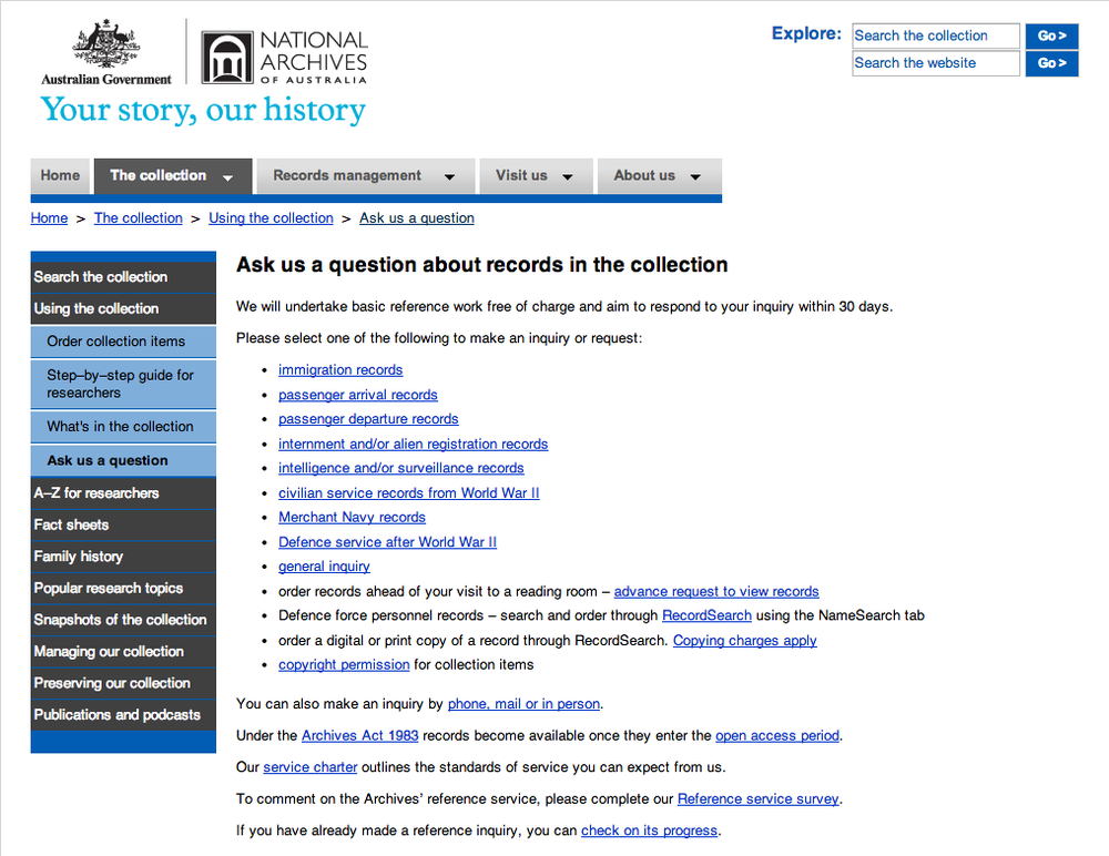 http://www.naa.gov.au/collection/using/askquestion/index.aspx