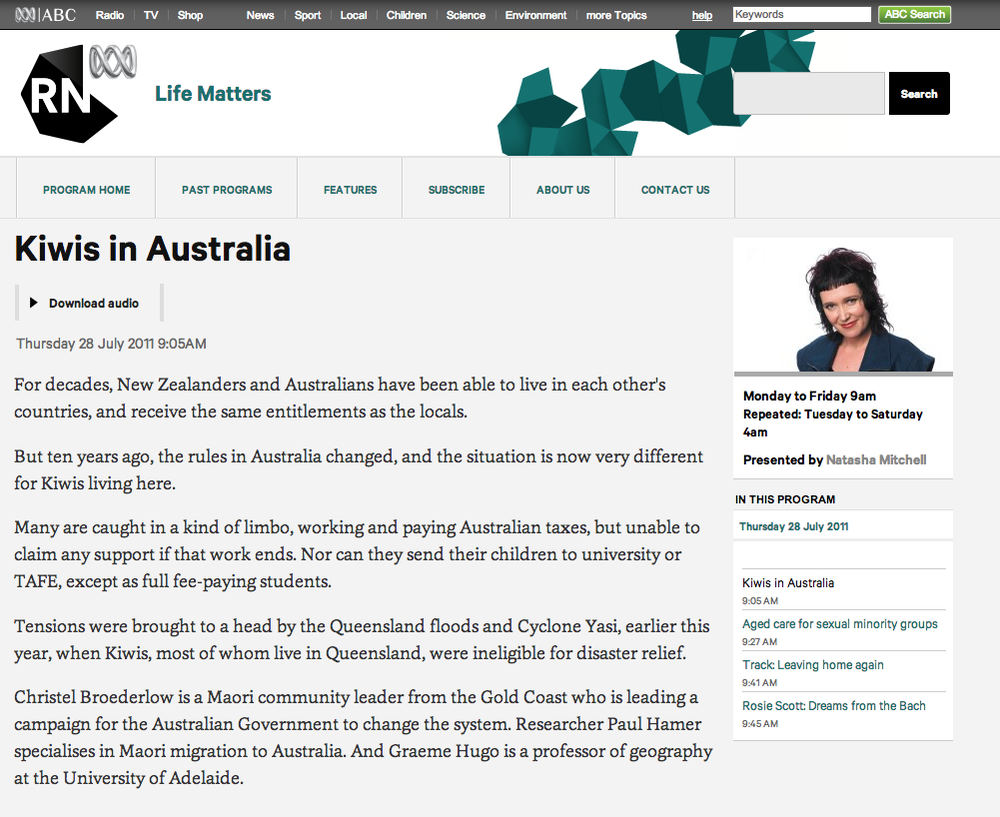 http://www.abc.net.au/radionational/programs/lifematters/kiwis-in-australia/2927216