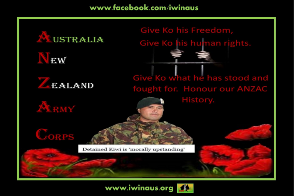 Iwi n Aus Facebook Post 14th February, 2016.  Above is a special message sent through from Ko Haapu. Please read and share as this is an unbelievable case of overreaching laws that are supposedly designed to protect innocent people, not target and hurt them. BACKGROUND INFORMATION: Ko Haapu, our NZ ex-serviceman has been locked in Casurina Super maximum Prison, Perth for NO CHARGES whatsoever for 98 days and counting in the most extremist conditions you could imagine. Meanwhile, he is being silenced and forgotten by immigration policies and politicians who are making an absolute mockery of our ANZAC spirit and belief in freedom, liberty, democracy, equality and humanity. Again, PM John Key, where are you? Are you willing to put yourself on the line like Ko did for you in 2010? Come on Peter Dutton, surely you can see this is a complete and utter miscarriage of justice. You've let violent offenders, drug dealers, even sexual offenders have their visas back but you can't bring yourself to allowing Ko to have his visa back, return to work, contribute to the economy and care for his family? Kia kaha Ko, there are many who stand by you along with all 501s. We also send our aroha to your whanau who are suffering daily and doing time with you from the outside.