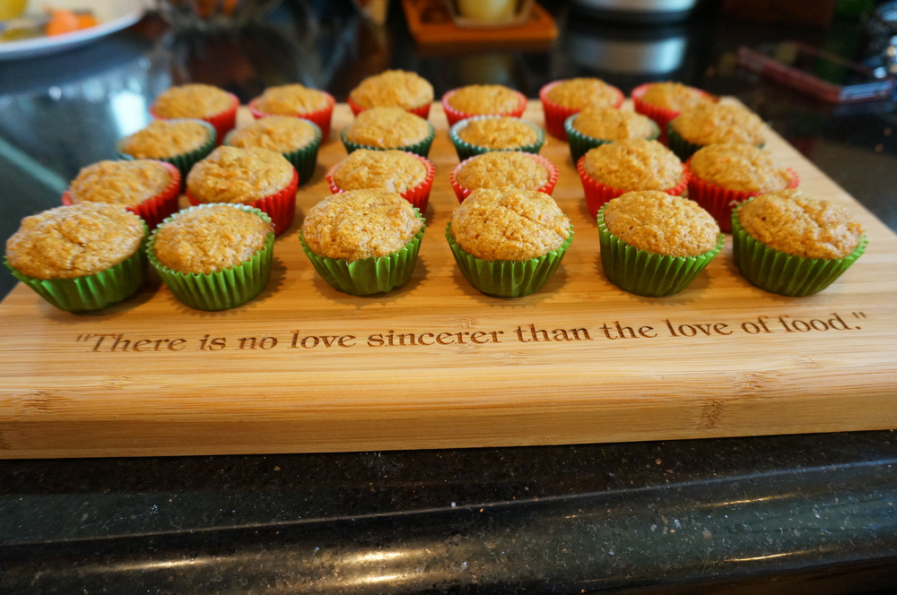 Baked Low Fat Carrot Cupcakes