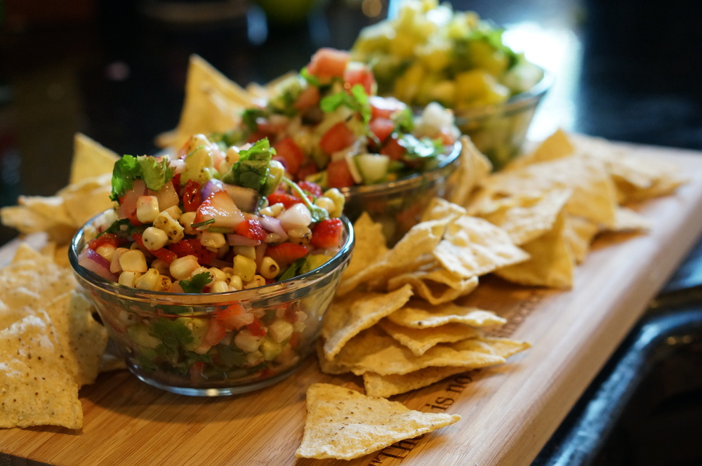 Summer Salsas with chips