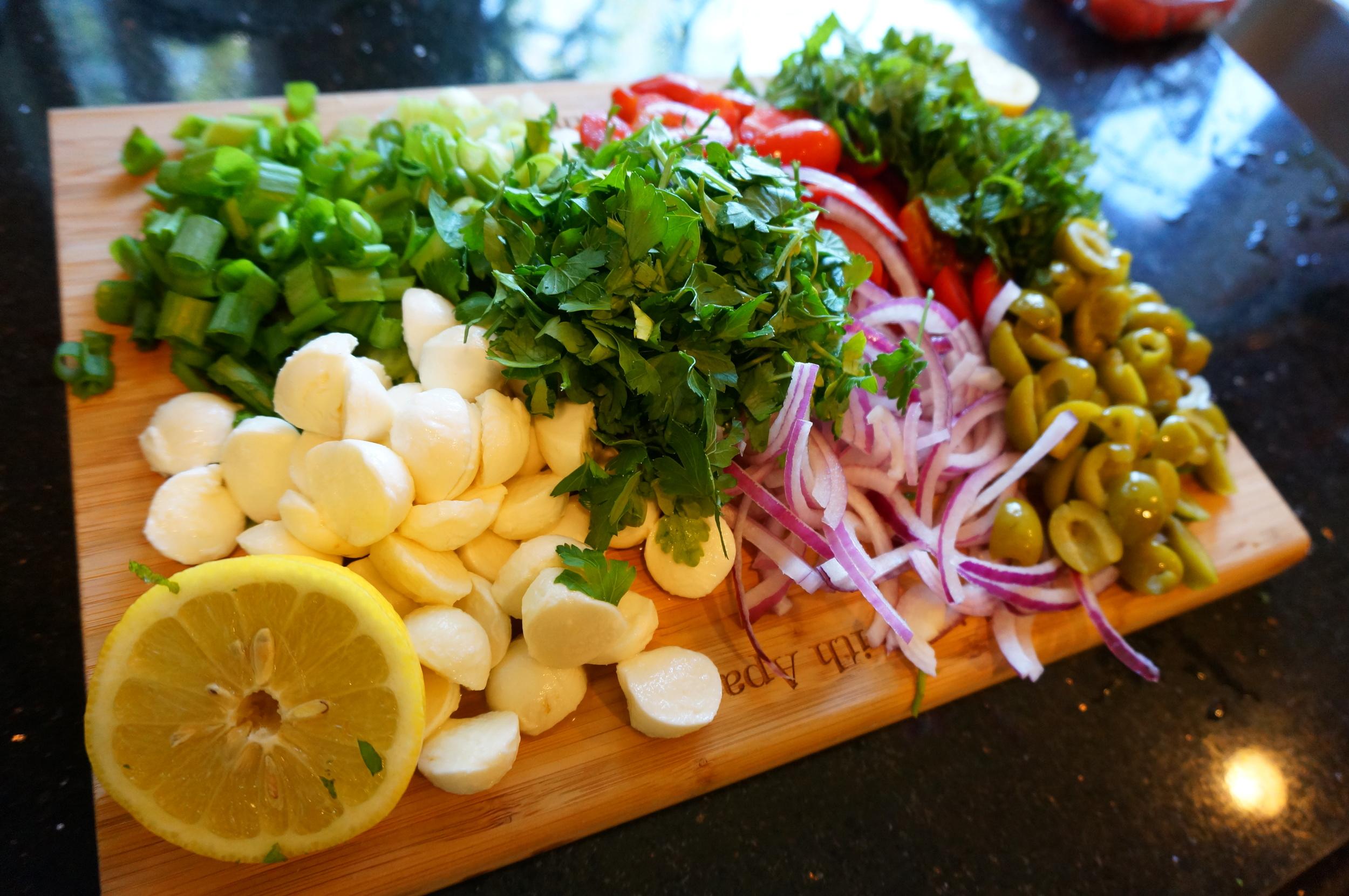 Vegetables for Mediterranean Barley Salad