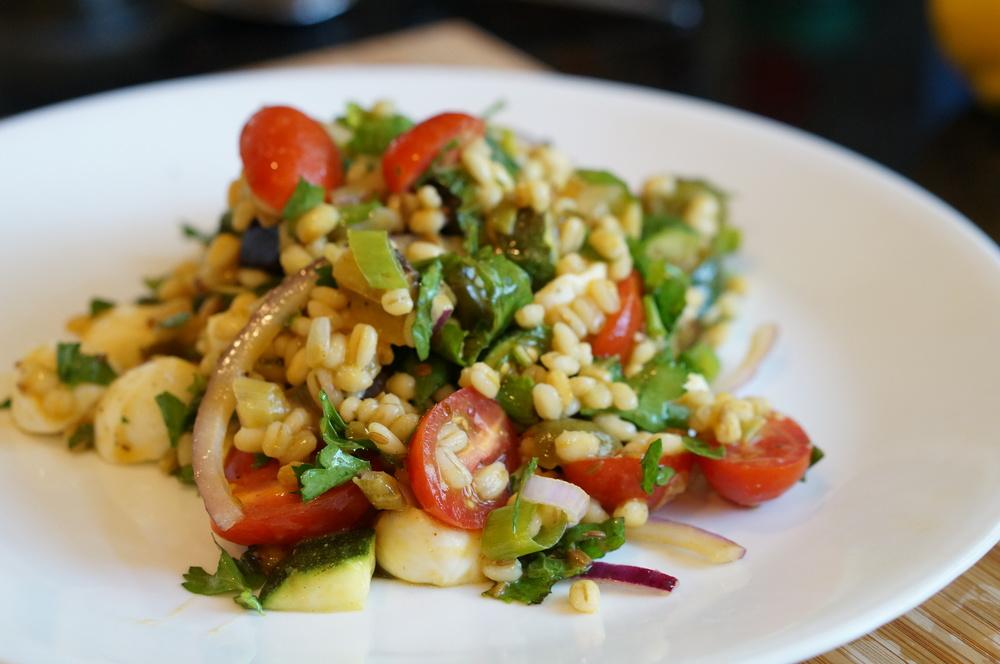 Finished Mediterranean Barley Salad