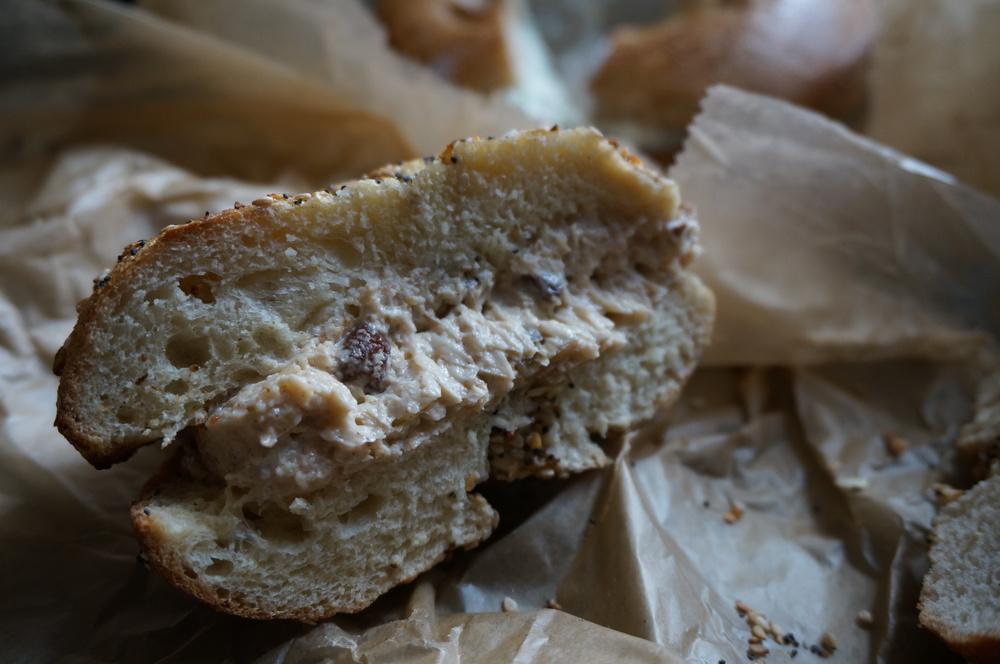 New York Bagel with Cinnamon Raisin Cream Cheese