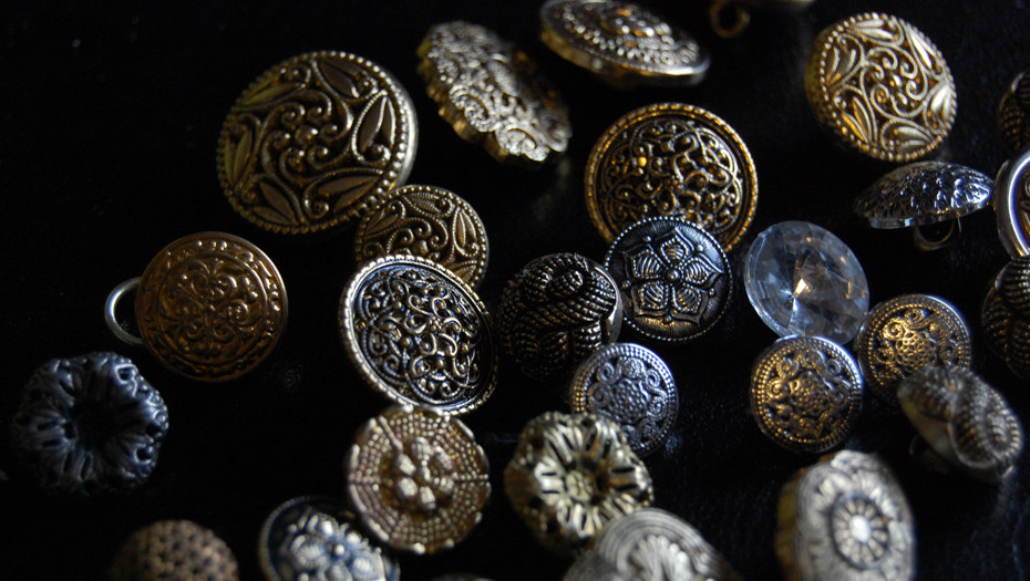 Vintage buttons from 1920s-60s