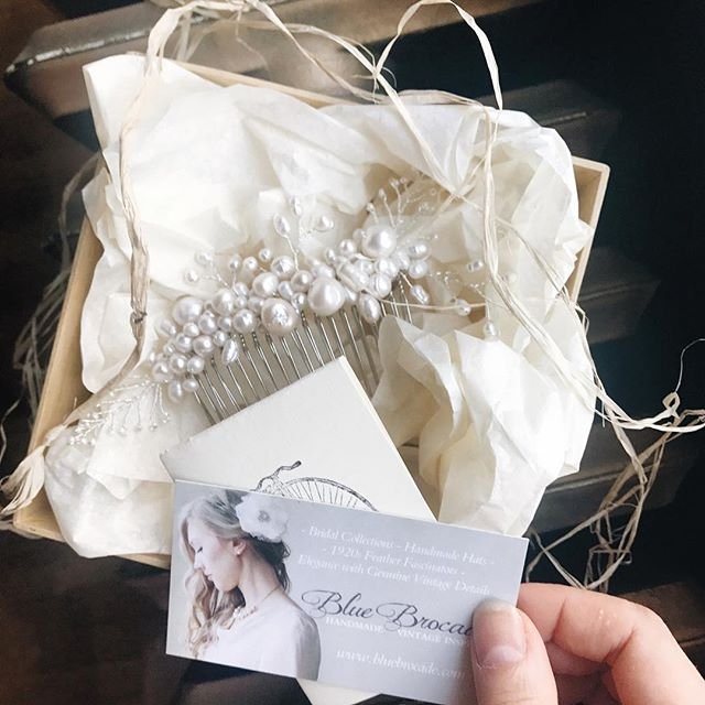 Wrapped in the layers of ivory and raffia, another Chloe comb off to her new home... hmm should I become a poet... ;) • • • • •  #vcbride #vancity #vancouver #vancitynow #mybluebrocade #vancitybuzz #vancitybride #vintagebridal #weddinghair #vintagewedding #vancouverbridal #vancouverweddings #vintageweddingstyle #bridalcomb #engaged #gettingmarried #fiance #feyonce #hairaccessories #bridalhair #bridesmaids #bridalaccessories #bridalhairaccessories #bluebrocade #bcbrides #bcweddings #yvr #etsyca