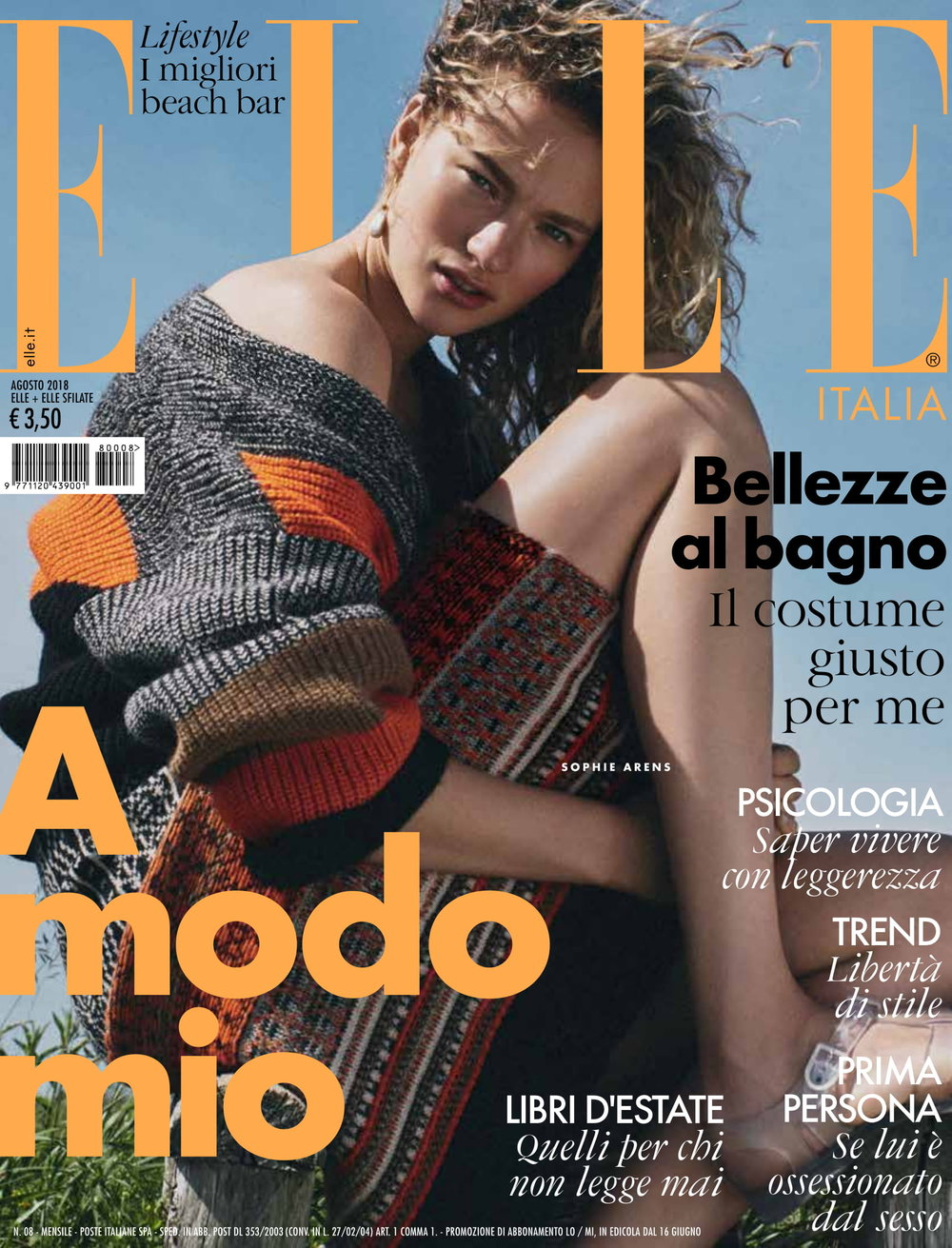Elle Italy, August 2018
