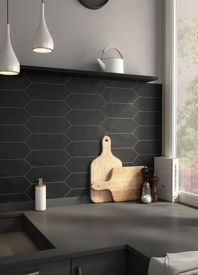 I have so much love for this Kite tile. The matt finish is stunning and it is available 3 beautiful colours, soft grey, white and black