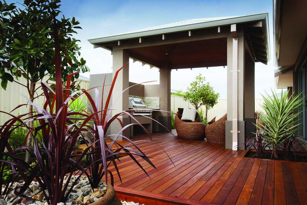 A Jarrah natural timber deck is always a classic
