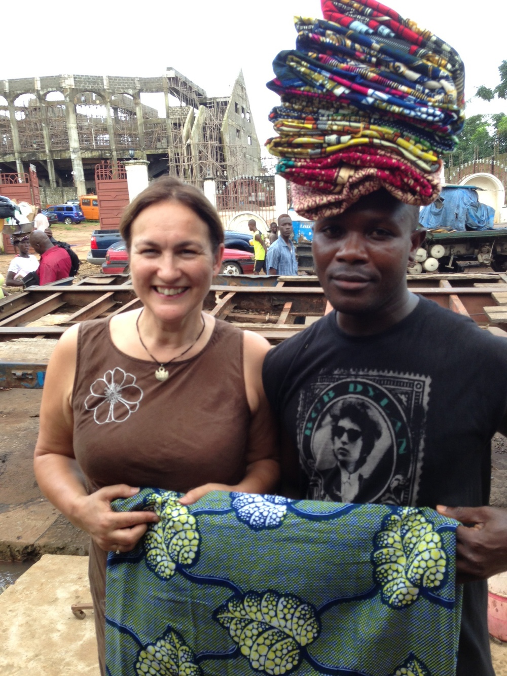 Buying Sierra Leone fabric in Freetown