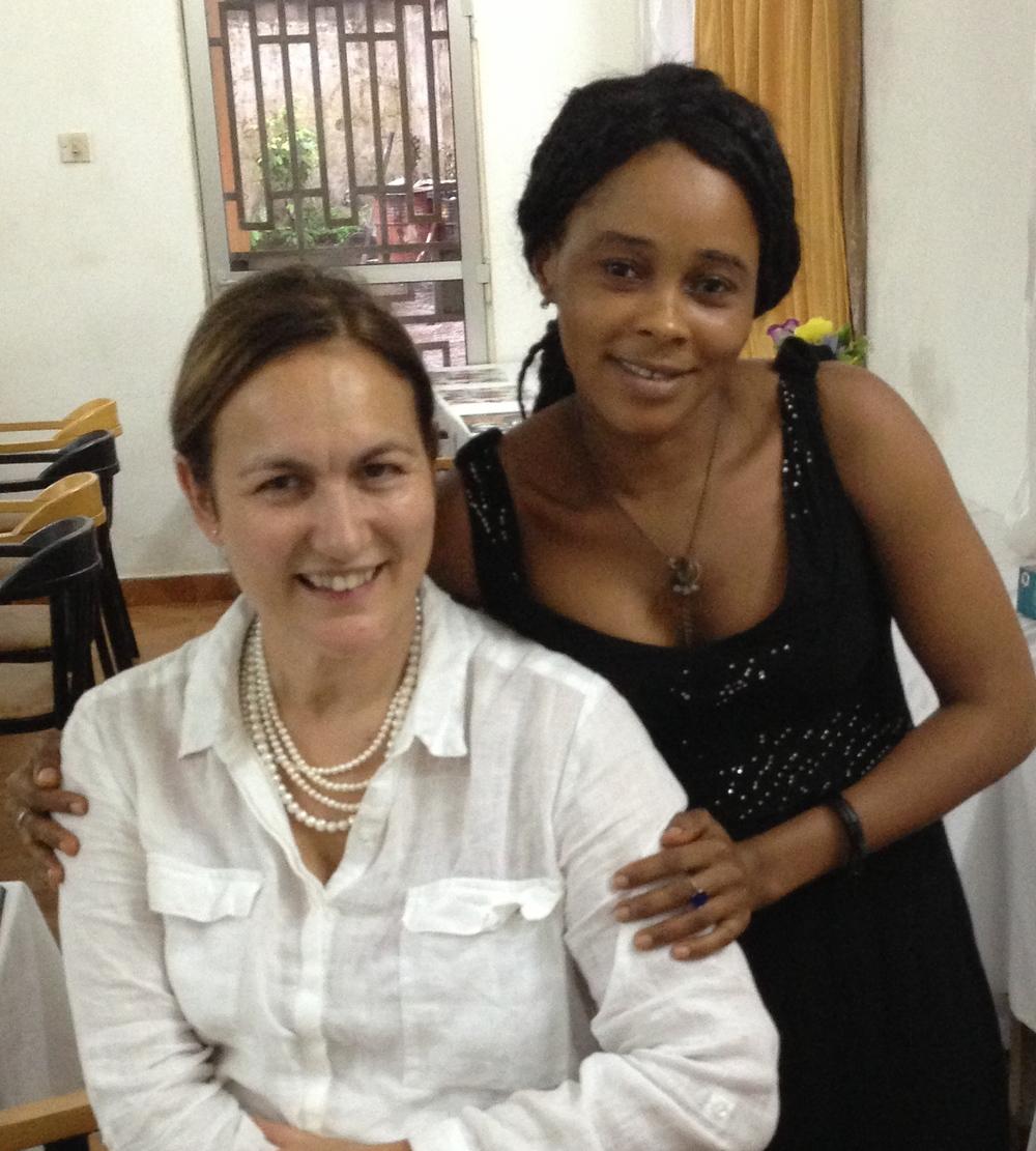 Alima and Tee, Hotel Mariam,Sierra Leone
