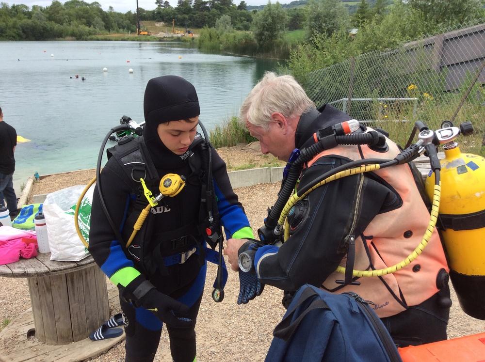 John helping Ben