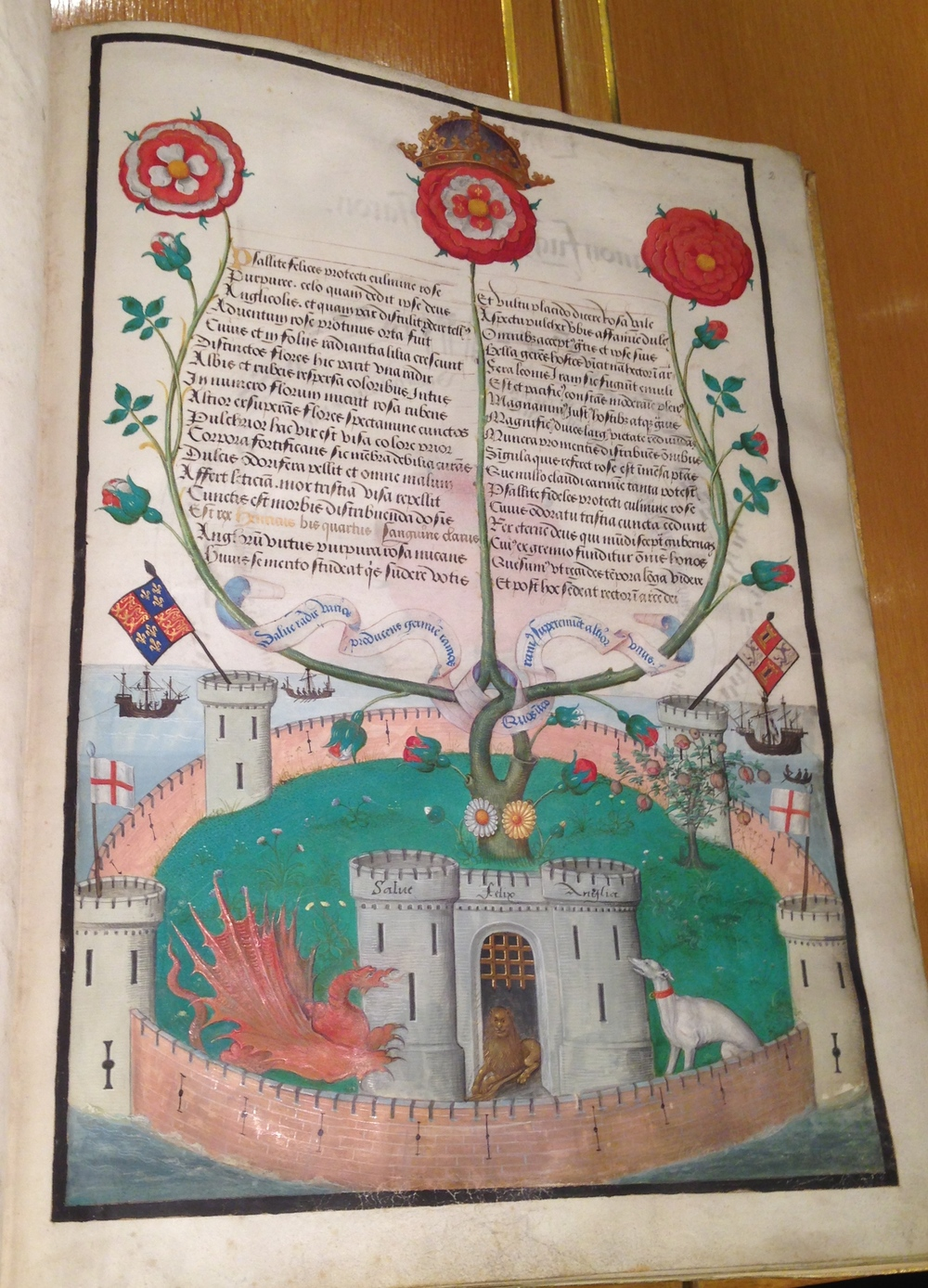A page full of Tudor symbolism, can you work out what everything represents?