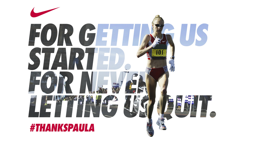 Nike #ThanksPaula campaign