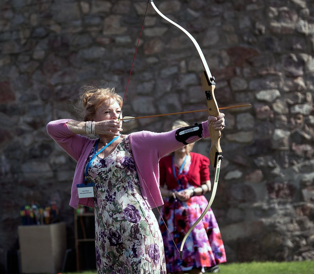 Archery at Walton Castle    ©Mike Fletcher