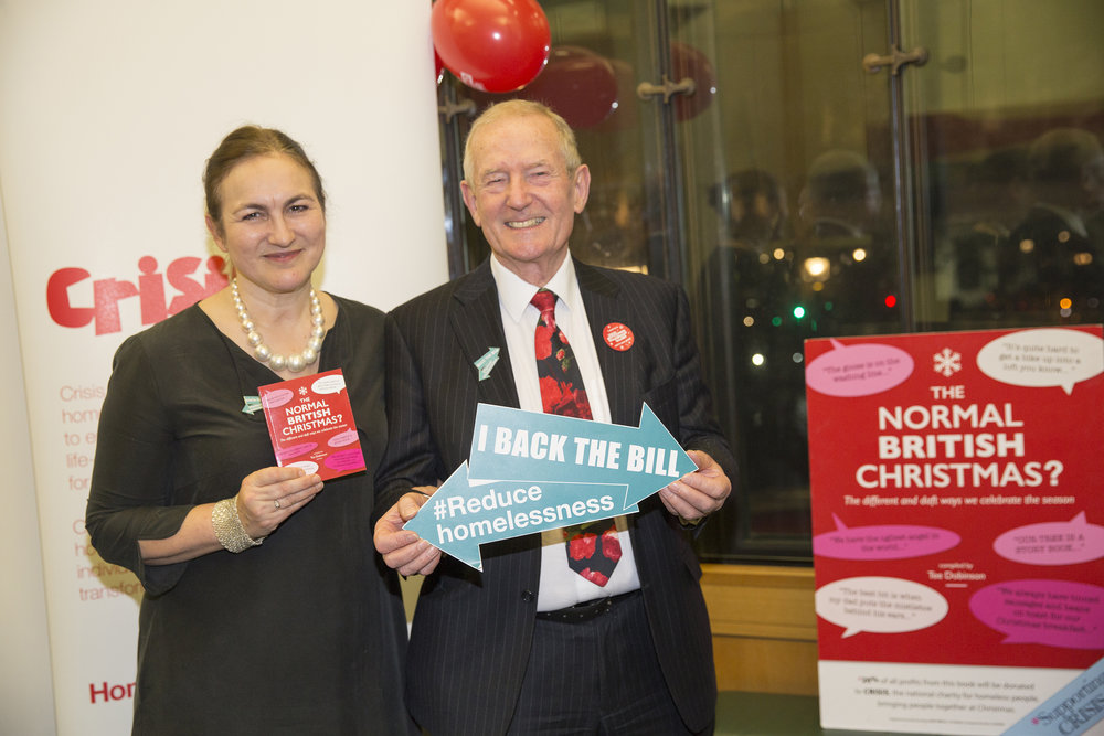 With Barry Sheerman, MP at the Crisis event he and David Burrowes, MP held this week in Portcullis House. Photo @sammellishphoto @crisis