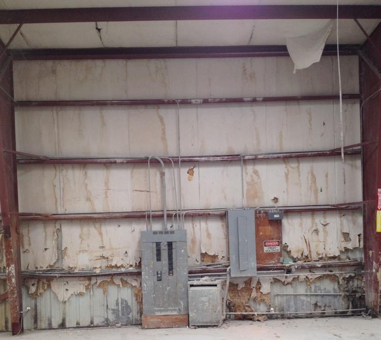 Insulation repairs replacement metalguard this shows repairing damaged metal building insulation solutioingenieria Gallery