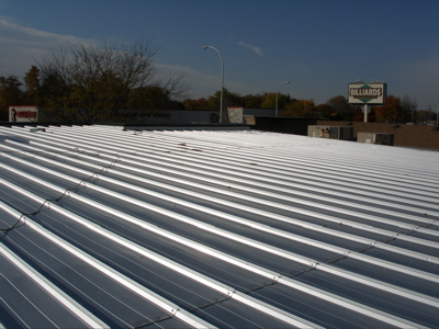Sloped Metal Roof Over A Flat Roof Metalguard