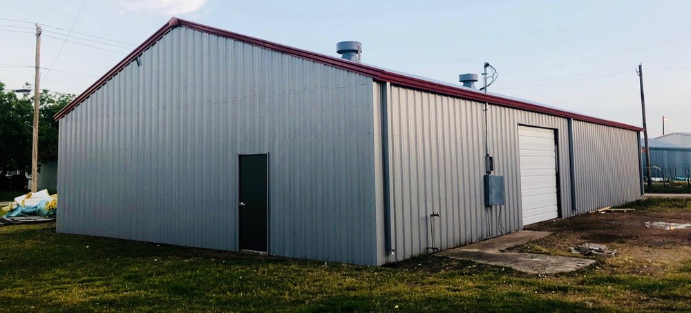 We partner with other trades as needed to complete the entire project if that's what is required. Nice accent colors. Houston (Edna area) TX metal building restoration.