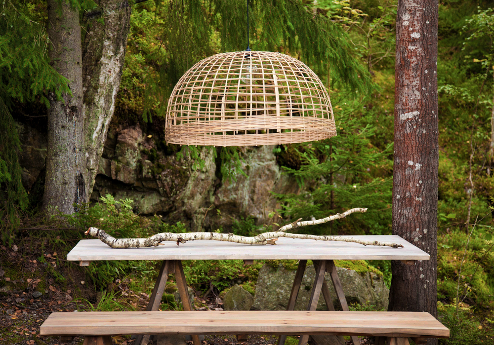 The Soomkai-lamp beutifully styled by Jimmy Schönning in nordic nature.
