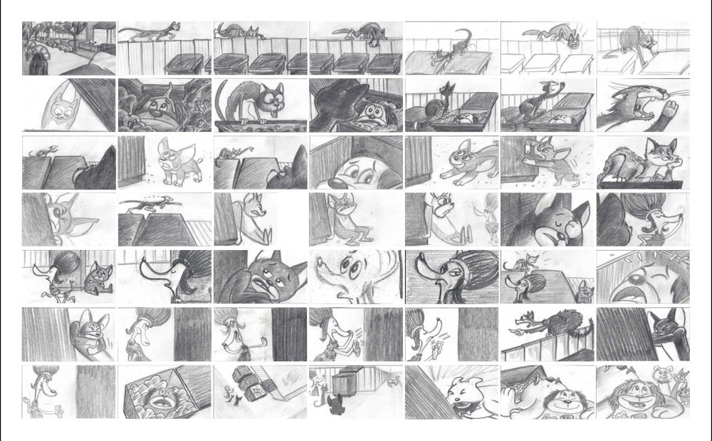 One of the storyboards I created for a pilot for an animated series based on the book.