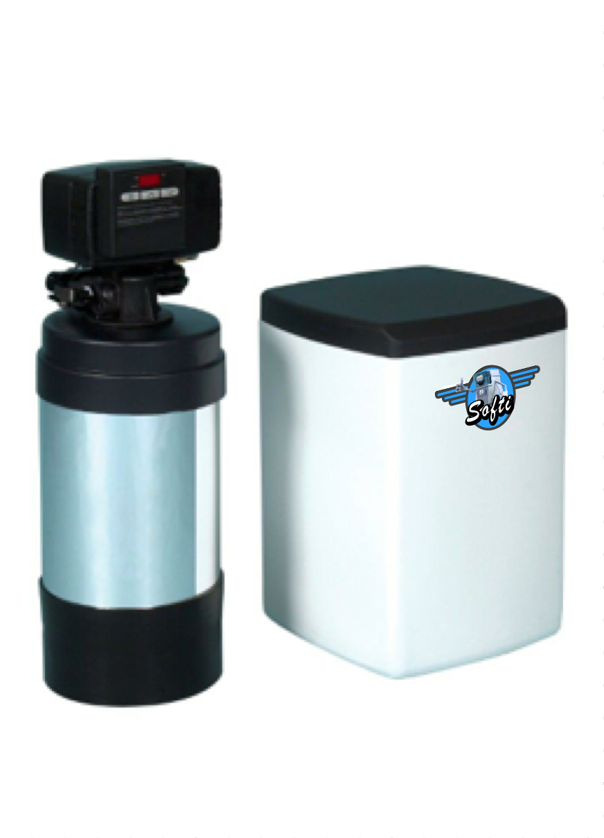 Fleck two piece water softener