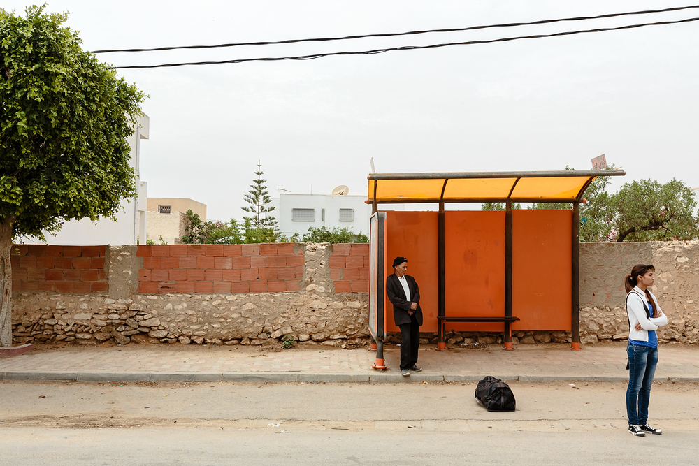 Untitled from the series Sfax bus stops, 2013, 40 x 60cm