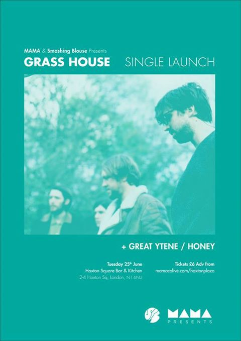 This is our next show, its our buddies Grass House single launch, which is coming out on our little label Marshall Teller Records