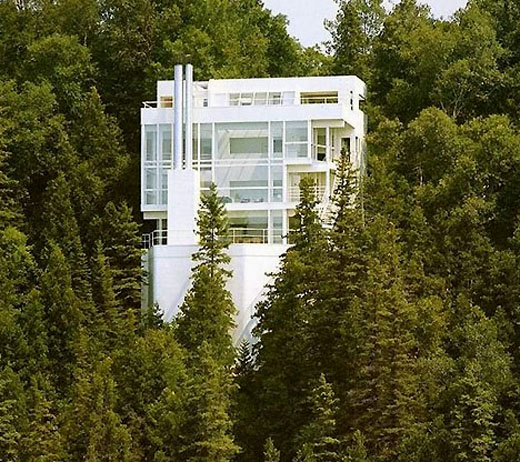 Douglas House in Harbor Springs, Michigan on an isolated site outlooking Lake Michigan - Can we move in already?