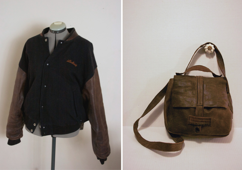Before Jacket & After Satchel - NestingDoll.