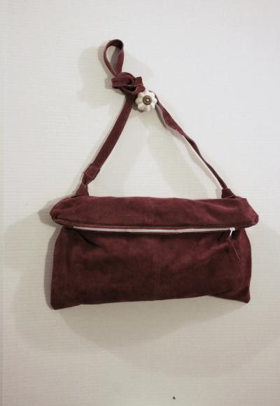 Maroon Slouch Crossbody Bag -NestingDoll.